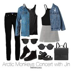 """Arctic Monkeys Concert with Jin: Couple Outfit"" by btsoutfits ❤ liked on Polyvore featuring Topman, Boohoo, DC Shoes, Danielle Foster, 3.1 Phillip Lim and Ace"