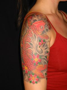 Image result for koi fish half sleeve tattoo designs