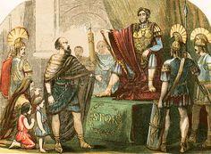 Caractacus before the Roman emperor Claudius