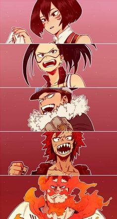 Shino Sosaki, Momo Yaoyorozu, Inasa Yoarashi, Eijiro Kirishima & Enji Todoroki (My Hero Academia) Boku No Hero Academia, Deku Hero Academia, My Hero Academia Memes, Hero Academia Characters, My Hero Academia Manga, Anime Meme, Anime Tumblr, Comic Anime, Manga Anime