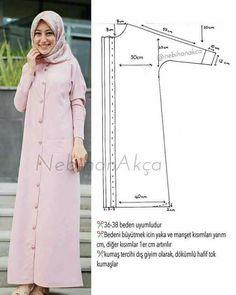 Fashion Sewing Clothing Accessory Design Hijab DIY Kombin Hijab Fashion … - Do it Yourself Clothes Hijab Mode, Mode Abaya, Fashion Sewing, Diy Fashion, Ideias Fashion, Fashion Wear, Dress Sewing Patterns, Clothing Patterns, Sewing Clothes