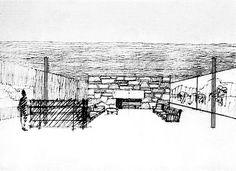 arquitectura + historia: Los Croquis del Maestro Mies van der Rohe Ludwig Mies Van Der Rohe, Architecture Drawings, Modern Architecture, Croquis Drawing, Hand Sketch, Modern Materials, Louvre, Sketches, Building