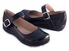 Ref: 485-58 Sapato Retrô Conforto Preto