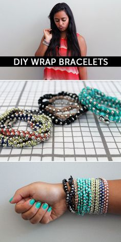 How to Make 3 Super Simple Wrap Bracelets - Click through for the tutorial!