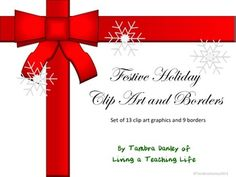 Festive Holiday Clip Art and Borders
