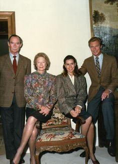 Grand Duke Jean with Grand Duchess Josephine Charlotte, Hereditary Grand Duke Henri and Hereditary Grand Duchess Maria Theresa