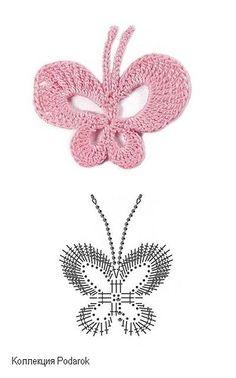 Crochetpedia: 2D Crochet Butterfly Applique