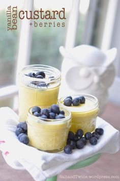Vanilla Bean Custard with Berries