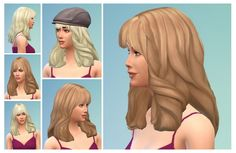 Claire Hair at Birksches Sims Blog via Sims 4 Updates