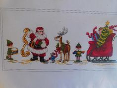 "The Design Connection GETTING READY SANTA Chart Pack 15 3/4"" x 6 1/4""  #CP4-068 #TheDesignConnection"