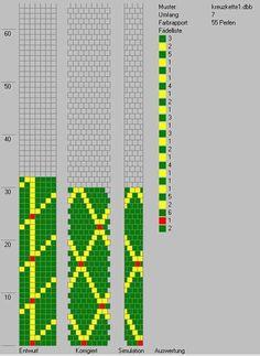 Schlauchketten häkeln - Musterbibliothek: kreuzkette1