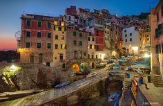 Riomaggiore, Cinque Terre. by Dawid Martynowski, via 500px