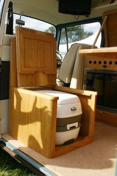 The lid lifter! Minivan Camping, Rv Camping, Kombi Motorhome, Bus Camper, Campervan Interior, Rv Interior, Bongo Campervan, Combi T2, Minivan Camper Conversion
