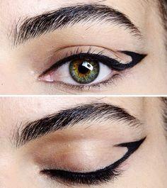 Креативные стрелки на глазах / Макияж/Маникюр / Своими руками - выкройки, переделка одежды, декор интерьера своими руками - от ВТОРАЯ УЛИЦА Makeup Art, Eye Makeup, Hair Makeup, Eyebrows, Eyeliner, Herve, Winged Liner, Eyebrow Pencil, Hair And Nails