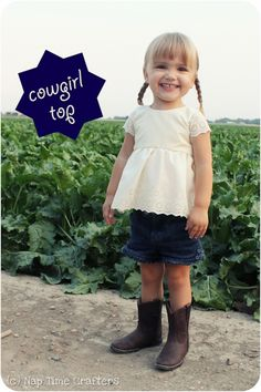 Giddy Up Cowgirl Shirt Tutorial - Peek-a-Boo Pattern Shop: The Blog