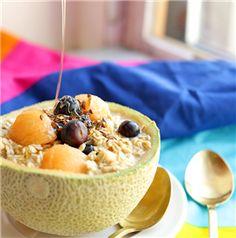 CINNAMON: Blueberry Cantaloupe Overnight Oats - Recipe | Quakeroats.com