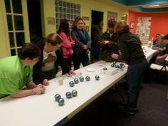 Award winning Art Smart Christmas Workshop #SMILEonDownSyndrome #ArtSmart #CampIdeas #ClassIdeas www.smileondownsyndrome.org