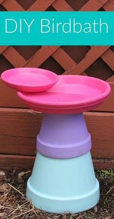 DIY Birdbath Activity for Families || The Chirping Moms