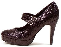 26b8f129503 Black Glitter Jane Adult Shoes Size 11  Amazon.com  Clothing Black Glitter  Shoes