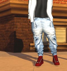 Urban Jeans for Males by Ebonix for The Sims 4
