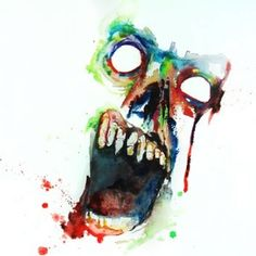 A snippet of 1 of 3 new watercolour paintings by your favorite person named Darryl Graham. A step away from my modern oldies style but thi. Zombie Tattoos, Street Tattoo, Zombie Art, Art For Art Sake, Imagines, Retro Futurism, Horror Art, Zombie Apocalypse, Illustration Art