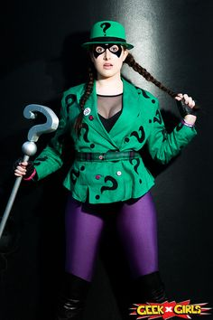 Cosplayer: Roxy Lee GG Character: The Riddler (rule From: Batman Batman Cosplay, Dc Cosplay, Best Cosplay, Cosplay Girls, Anime Cosplay, Villain Costumes, Girl Costumes, Costume Ideas, Cosplay Ideas