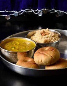 Vegetarian Tastebuds: Daal Baati ( Hard Wheat Flour Bread With Spiced Five Lentils Daal)