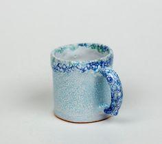 Handmade glazed ceramic mug mug for tea blue  mug by PotterAsh #cup #mug #ceramic #etsy #tea #coffee #handmade #trend #art #gift #2016 #potterash #чашка #керамика #кофе #рукотворный #кружка