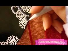 Henna plate tray thali..plateau décoré pour bougie - YouTube