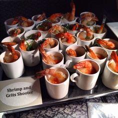 bizbash: Shrimp and Grits shooter. #chicago #catering http://instagram.com/p/jnX2S8IhXK/