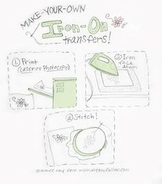 Make your own Iron On Transfers for stitching on fabric.