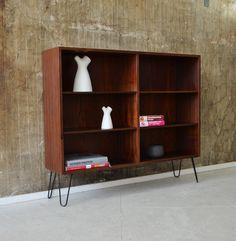 60er PALISANDER Regal Highboard Standregal DANISH DESIGN 60s rosewood cabinet