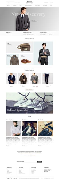Not to say this is the way to go. But it's a kind of product focused editorial homepage. More prominence for the items you're pushing, more product on white shots for straight up product tiles.