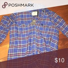 Flannel Cute flannel super soft Abercrombie & Fitch Tops Button Down Shirts