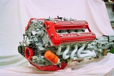 Alfa Romeo Montreal engine One of the biggest. In the race he won everything there was to win. In the production of serious, Alfa Romeo has not believed in it. We could have had fantastic car. Alfa Bertone, Alfa Alfa, Alfa 164, Motor Engine, Car Engine, Performance Engines, Alfa Romeo Cars, Alfa Romeo Giulia, Race Engines