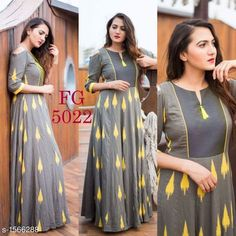 Colors & Crafts Boutique™ offers unique apparel and jewelry to women who value versatility, style and comfort. For inquiries: Call/Text/Whatsapp Indian Gowns Dresses, Pakistani Dresses, Indian Outfits, Stylish Dresses, Simple Dresses, Ethnic Fashion, Indian Fashion, Cotton Gowns, Kurta Designs Women