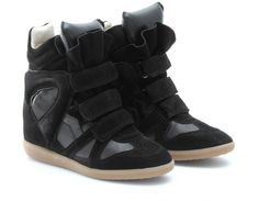 ISABEL MARANT Bekket High-top Suede Black Sneakers