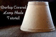 How to make burlap lamp shades