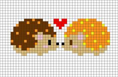 Hedgehog Pixel Art from BrikBook.com