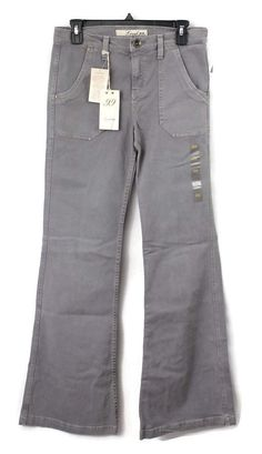 f65fdc6511 Anthropologie Level 99 Womens Wide Leg Jeans Sz 4Gray Straight Pocket NWT # Level99