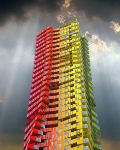 Torres de contenedores de 400 m: Estos edificios solucionarían problemas de vivienda en Mumbai