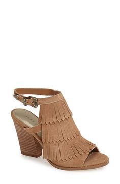Very Volatile 'Idea' Suede Fringe Sandal (Women) available at #Nordstrom