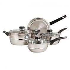Gibson Sunbeam Ridgeline7-pc. Cookware Set (Stainless Steel (Silver))