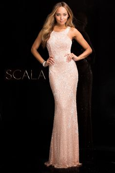 #SCALA Spring 2017 style 48703 Blush. #scalausa #spring2017 #prom #promdress #prom2k17 #prom2017 #gown #eveningwear #fancy #pageant #fashion #dress #longdress #fashion #beautiful #redcarpet #emmys #oscars #goldenglobes #celebrity #sequins #sparkle #redcarpet #sequindress www.scalausa.com