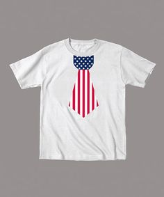 Take a look at this White American Flag Tie Tee - Toddler & Kids by Celebration Station on #zulily today!