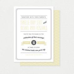 Art Deco wedding invitation Vintage wedding stationery