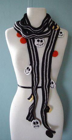 crochet Jack Skellington scarf by meekssandygirl, via Flickr