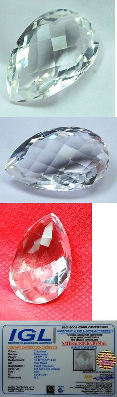 Rock Crystal Colorless 12317: 49.276 Ct Natural Belgium Rock Crystal Quartz Gemstone Pear Cut Vvs Clarity A+ -> BUY IT NOW ONLY: $36.9 on eBay!