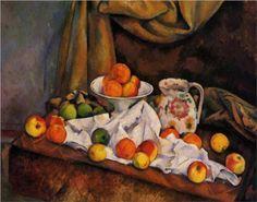 Fruit Bowl, Pitcher and Fruit - Paul Cezanne