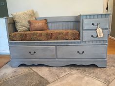 Storage Bench From Upcycled Dresser By Reprisedpossessions On Etsy